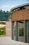 Dachkonstruktion originell, Gebäude rund, Architektur genial