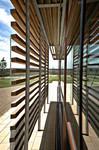 Phantasie Hausbau, Sinuskurve Dach Gebäude, modern Architektur